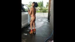 Dare at the carwash...