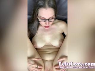 Lelu Love-Red Toenails Closeups And Virtual Impregnation Sex