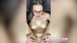 Lelu Love-Red Toenails Closeups And Virtual Impregnation Sex