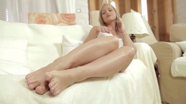 Kathia nobili footjob For foot fetish lovers.
