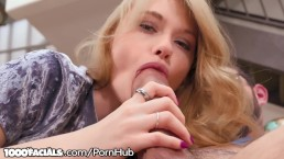 1000Facials Horny Teen Hannah Hays Loves Sucking Cock & Facials