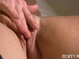 Muscular Female Fitness Model Masturbates Her Big Clit