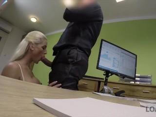 LOAN4K. New online lingerie shop deserves dirty sex with loan agent