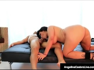 Cuban BBW Angelina Castro Sucks & Fucks Stranger!