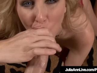 Hot American Milf Julia Ann Sucks A Hard Cock POV!