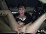 Short-Term Parking - hot MILF flashes and fingers in parking garage JOI
