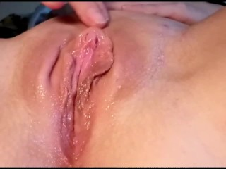 Stroking And Rubbing My Wet Tight Pussy