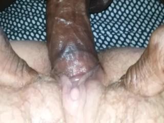 big black cock nuts deep in milf pussy