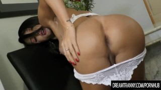 Horny Transsexual Roberta Cortes Has Her Ass Reamed by a Dildo Machine Pornnerdasia.com amateur