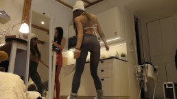 Leon`s Angels Transparent Leggings, Pasties for Nipples, Dance and Music