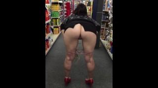 Slut wife flashing taking off panties