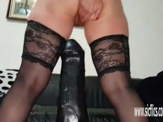 Colossal dido fucking amateur wife