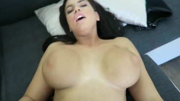 Beautiful hot babe Chloe Lamour fucked by a big black hard bbc with cum POV