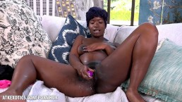Tiana Grey's pussy is dripping wet from her toy