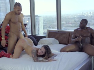 Naked Young Teen Nudists Fucking, Interracial threesome Karmen KarmA getting In troubles with two di
