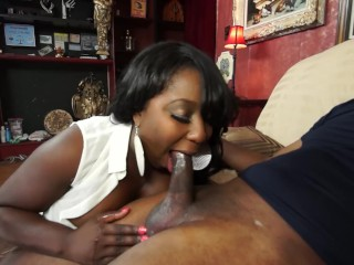 ebony milf with huge natural tits enjoys anal ride on huge black cock