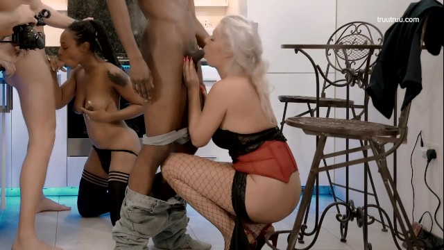 Interracial Foursome Party. He cheat me with cute Ebony, This is my revenge