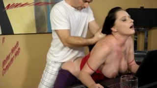 Grinding My Busty Step Mom while she Helps Me with My Homework - Nikki Kay