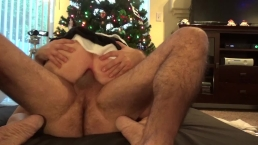 Christmas fucking MILF takes it in all holes