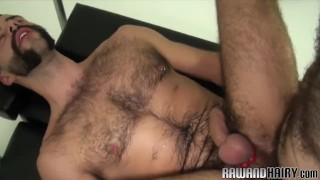 Hairy bear fingered and barebacked doggystyle
