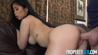 Client fucks tits asian real estate natural agent big propertysex with missionary tits