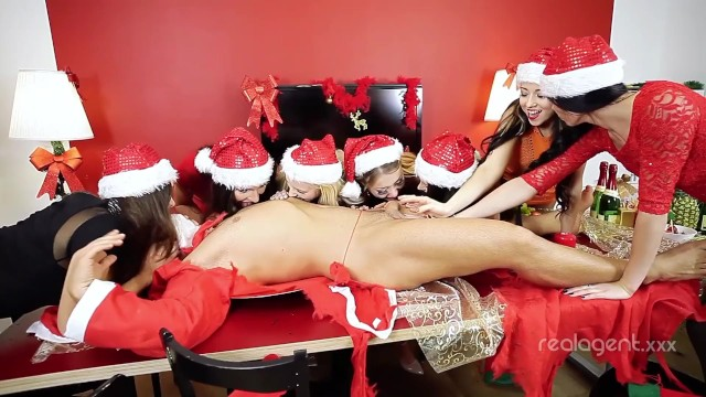 Xxx girl santa Seven graceful russian snow maidens are satisfying their cunts and santa