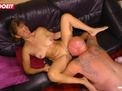 Horny German Amateur MILF cheats and fucks her boss