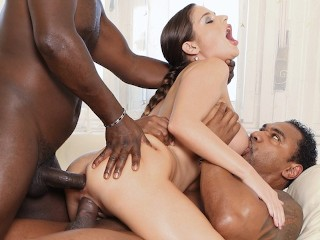 Famous porn sex interracial gangbang milf getting her holes drilled hard and creampied, dfbnetwork rough adult toys mom mother