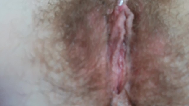 Close up on my Wet Hairy Ass and Pussy Fingering after Orgasm
