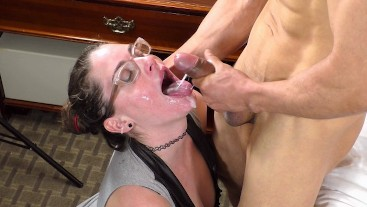Corporate Slut Blows Hotel Trainer