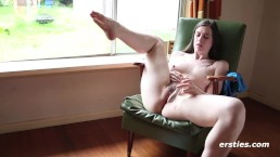 Driving that Dildo in Her Hairy Pussy