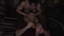 Eating Pussy, and Masturbating on the Couch