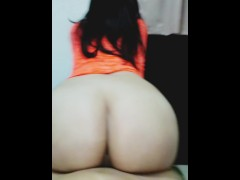 Amazing reverse cowgirl creampie! Big booty pawg