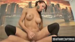 Passionate Tgirl Amanda Araujo Sucks a Cock and Takes It Deep in Her Rectum