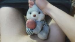 Plush Rabbit Helped Me Cum - Masturbation With Soft Toy