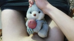 Plush Rabbit Helped Me Cum - Masturbation With Soft Toy