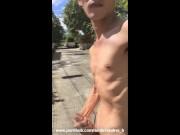 Asian Filipino PornHub Boy Model Morning Outdoor Roadside Jerk Off and Cum