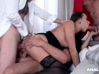 Porn Foursome Swap Fucking, Anal Inspectors bang Czech chick MeA Melone In must-see ass fuck gangban