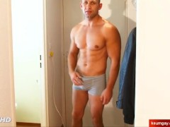 Igor straight hetero neighbour serviced in a gay porn in spite of him.