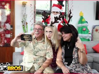 BANGBROS - Petite Young Blonde Anastasia Knight Fucked By Santa Claus