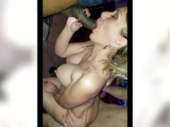 CUMSLUT cheating Hotwife Amy NO CONDOM 25 cocks DP, DVP, Anal, creampie atm