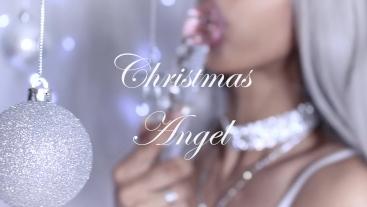 Christmas Angel Sucks and Fucks Glass Dildo