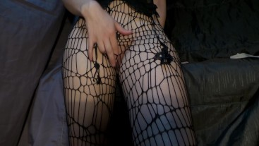 Solo with sex toy and sexy tights pussy