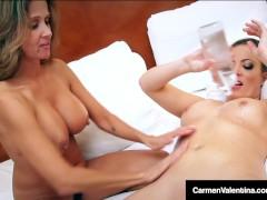 Sexy Hot Wife Rio Pussy Fucks VNA Carmen Valentina!