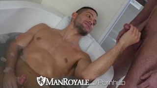 ManRoyale Bath Tub TEASE and fuck