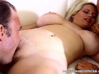 Bouncing boobs under lingerie milf swinger screws another, screwmywifeclub swinger milf wife wives m