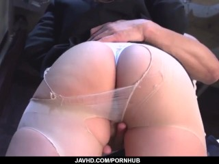 Shiona Suzumori removes undies to try cock in her - More at javhd.net