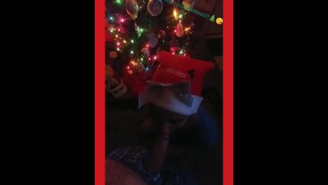 SANTA CAME EARLY FOR HIM, CHRISTMAS BLOWJOB!!