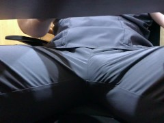 Nurse Rubbing Cock In Scrubs