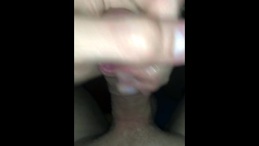 Almost caught cumming on friends table